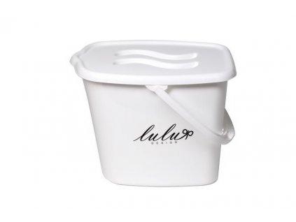 Kbelík plastový s víkem Lulu bílý