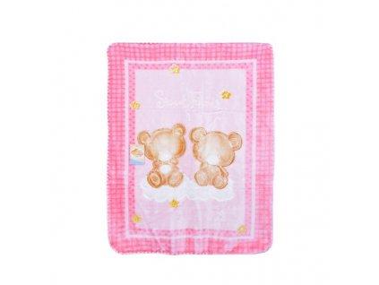 Deka španělská dětská COPITO GOLD 548 Pink 110x140
