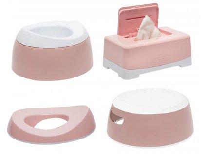 Tréningová sada na toaletu LUMA Cloud Pink