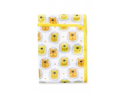 Bobánek Přebalovací podložka - Žlutí lvi 75 x 75 cm jemný PUL