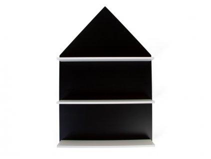 Tabule černá s poličkami Dům