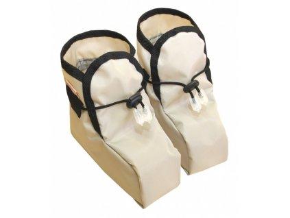 Dětské návleky na boty - béžové
