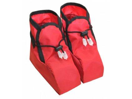 Dětské návleky na boty - červené