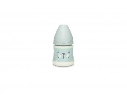 Suavinex PREMIUM LÁHEV 150 ml P. PRŮTOK SUAVINEX PREMIUM Láhev 150 ml S HYGGE VOUSKY - ZELENÁ