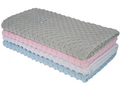 ESITO Dětská deka dvojitá MINKY jednobarevná - 75 x 100 cm / bílá ESDEKLUXDPMNK