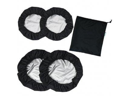 Babyrenka návleky na kola Kombi 2+2 s taškou black