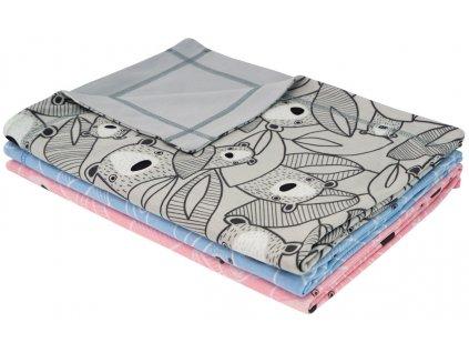 ESITO Letní dětská deka dvojitá bavlna Brumla - 75 x 100 cm / šedá ESDEKLETBBRM