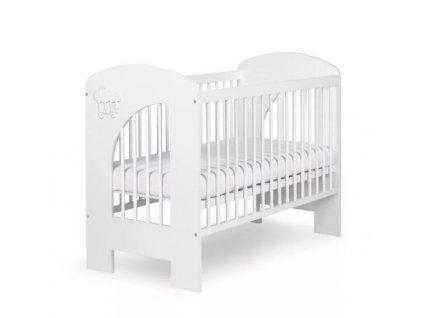 Postýlka dětská NEL - Obláček 120x60 cm bílá