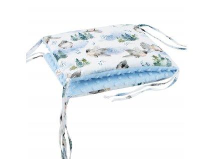 ESITO Luxusní mantinel do postýlky MINKY Ptáčci - 28 x 60 cm / modrá ESVPMANMNKPTCMOD