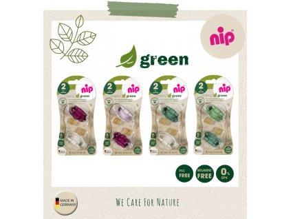 NIP GREEN line šidítko K, 6m+,2ks,mix barev