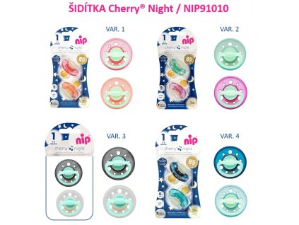 NIP CHERRY night šidítko K,0-6m,2ks,mix barev