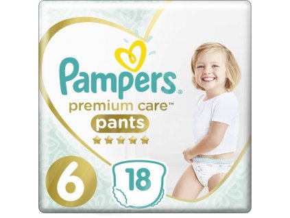 Kalhotky plenkové Premium Care Pants 6 EXTRA LARGE 16kg+ 18ks Pampers