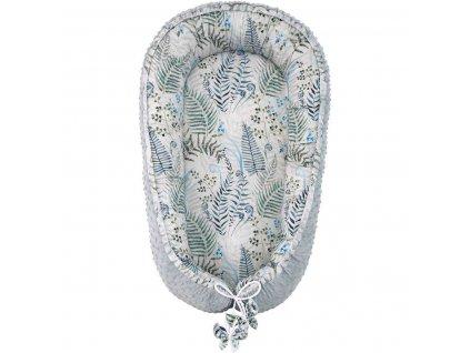 ESITO Luxusní hnízdo Minky Bamboo Kapradí - šedá / 100 x 65 cm ESVPHNMNBMKAPRAD