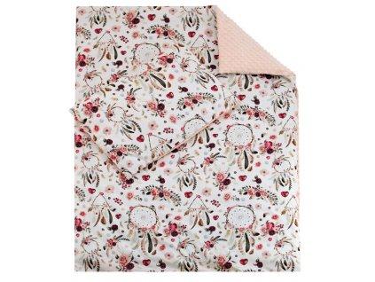 ESITO Luxusní dětské povlečení MINKY Růžový sen - 100x135