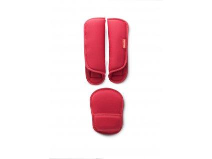 Babypack Polstrování na pásy,červené