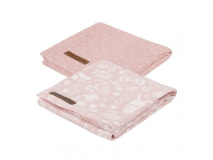 0008041 swaddle doek 70 x 70 adventure pink set van 2 designs