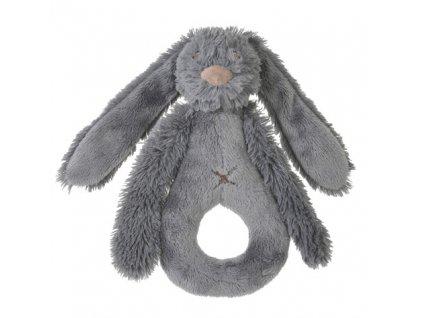 Happy Horse - Chrastítko králíček Richie šedé  Velikost: 18 cm