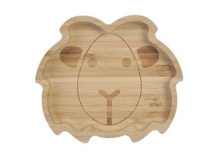 BAMBAM Bambusový talíř Lev