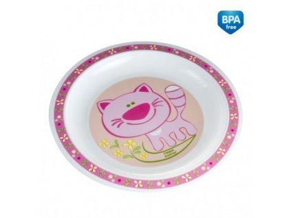 Canpol babies Plastový talíř HAPPY ANIMALS 4/411