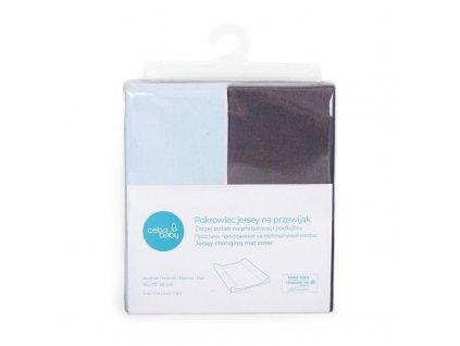 Potah na přebalovací podložku 50x70-80cm 2ks Dark Grey+Blue