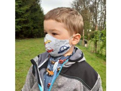 ESITO Dětská ochranná rouška velikost S - chlapecké / S ESHYGROUBAV