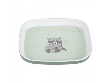 Plate Melamine/Silicone About Friends racoon