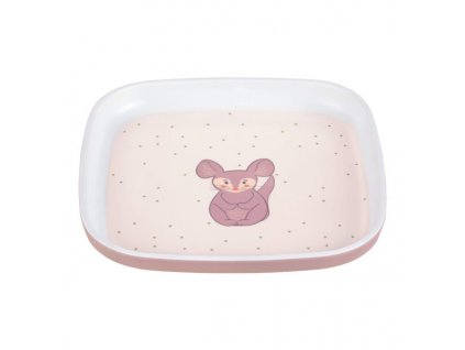 Plate Melamine/Silicone About Friends chinchilla