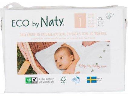 Pleny jednorázové Babycare 1 Newborn 2-5kg 25ks Naty Nature