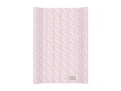 Podložka přebalovací MDF 70 cm Pastel Collection Cable stitch růžová Ceba