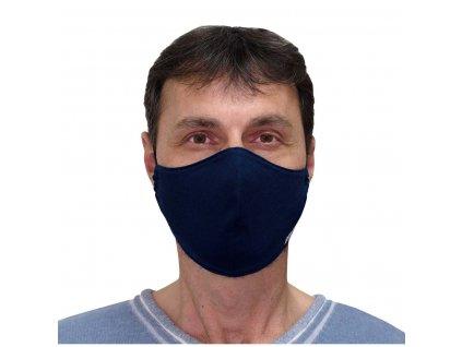 ESITO Antibakteriální rouška se stříbrem Modrá vel. XS