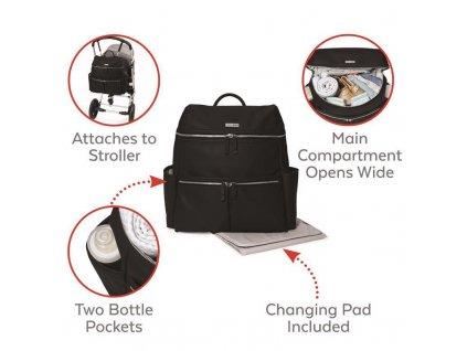 Taška přebalovací / batoh Flatiron Black