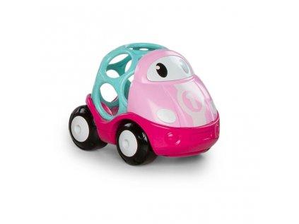 Hračka autíčko závodní Lily Oball Go Grippers růžová 18m+