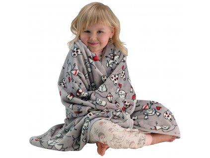 ESITO Dětská deka jednoduchá Kids 110 x 140 cm - 110 x 140 cm / šedá ESDEKMPKDS