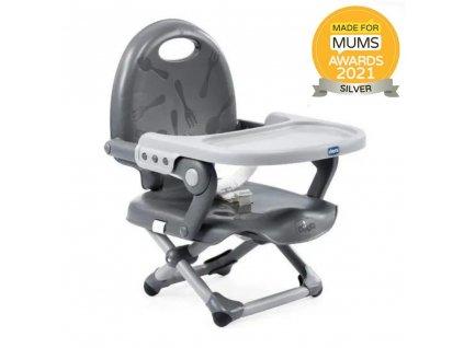 Podsedák přenosný Pocket Snack na židli  - Dark Grey