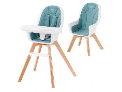 Židlička jídelní 2v1 Tixi Turquoise Kinderkraft