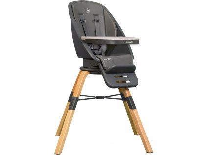 Muuvo Choc - multifunkční krmící židle s otočným sedadlem Graphite