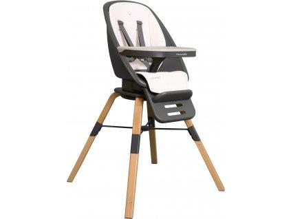 Muuvo Choc - multifunkční krmící židle s otočným sedadlem White