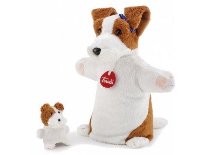TRUDI - maňásek pes se štěnětem