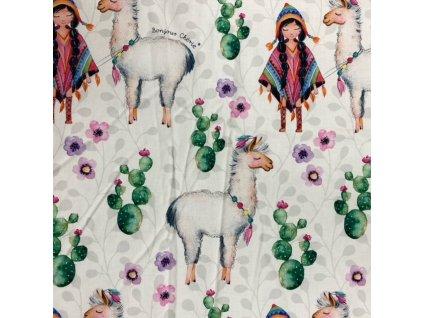 Bonjour Chérie – povlečení do postýlky: polštář 40 x 60 cm + přikrývka100 x 135 cm Lama