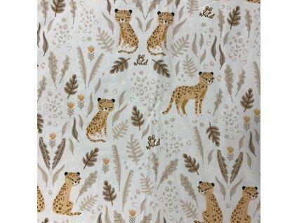Bonjour Chérie – povlečení do postýlky: polštář 40 x 60 cm + přikrývka100 x 135 cm Gepard