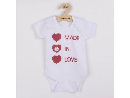 Body s potiskem New Baby MADE IN LOVE