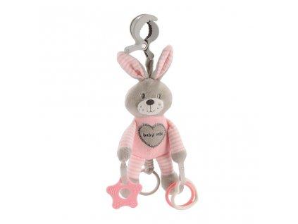 Plyšová hračka s vibrací Baby Mix králík růžový