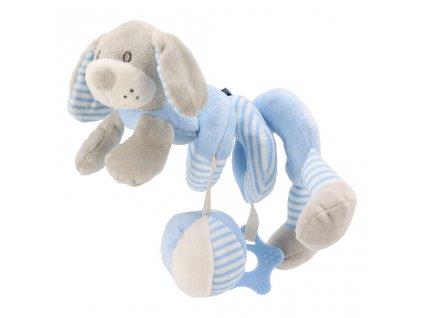 Hračka na postýlku Spirála Baby Mix pes modrý