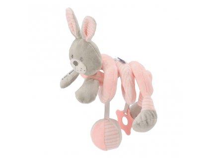 Hračka na postýlku Spirála Baby Mix králík růžový