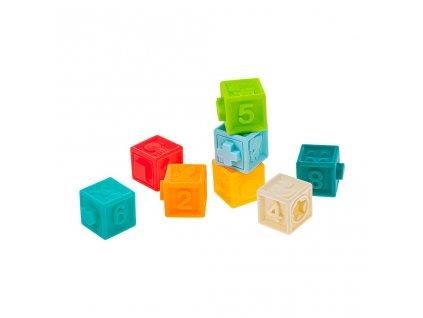 Sada senzorických hraček 8ks Akuku kostky