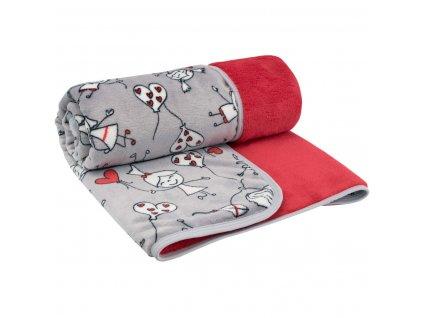 ESITO Dětská deka dvojitá Magna Kids - červená / 75 x 100 cm ESDEKMPKDS
