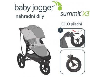 BabyJogger KOLO přední SUMMIT X3  + 8% sleva na další zboží