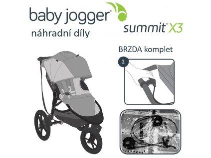 BabyJogger BRZDA komplet SUMMIT X3