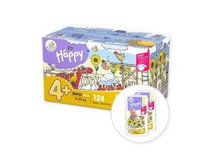 BELLA HAPPY Maxi 4 Plus Big TOY BOX (9-20 kg) 124 ks – jednorázové pleny