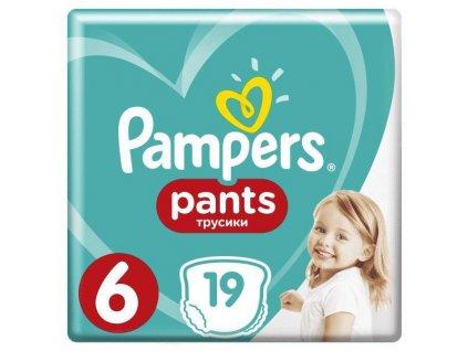 Kalhotky plenkové Pants 6 EXTRA LARGE 15+kg 19ks Pampers